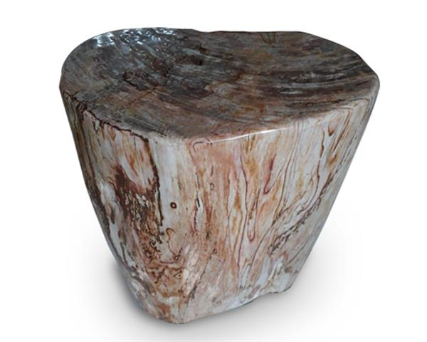 Petrified Wood Round Stool Full Polish#SRFP159