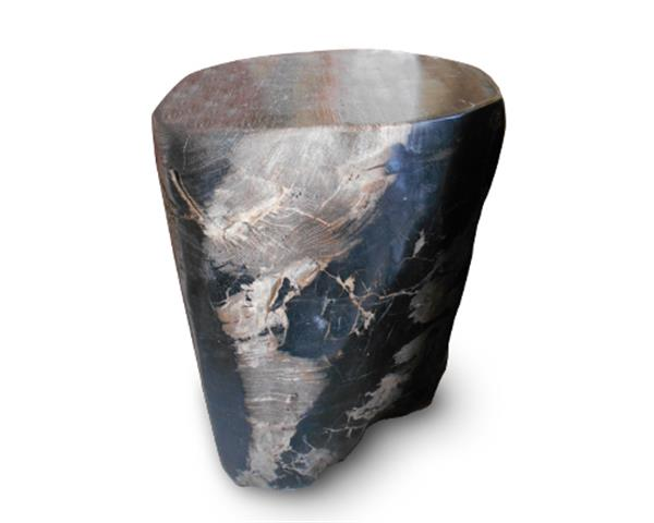 Petrified Wood Round Stool Full Polish#SRFP161