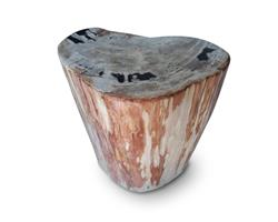 Petrified Wood Round Stool Full Polish#SRFP164