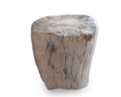 Petrified Wood Stool Round Full Polish#SRFP174