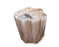 Petrified Wood Stool Round Full Polish#SRFP178