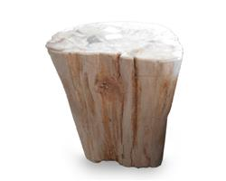 Petrified Wood Stool Round Full Polish#SRFP182
