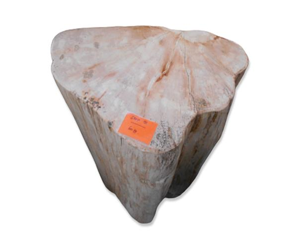 Petrified Wood Round Stool Full Polish#SRFP191