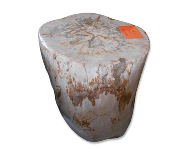 Petrified Wood Round Stool Full Polish#SRFP192