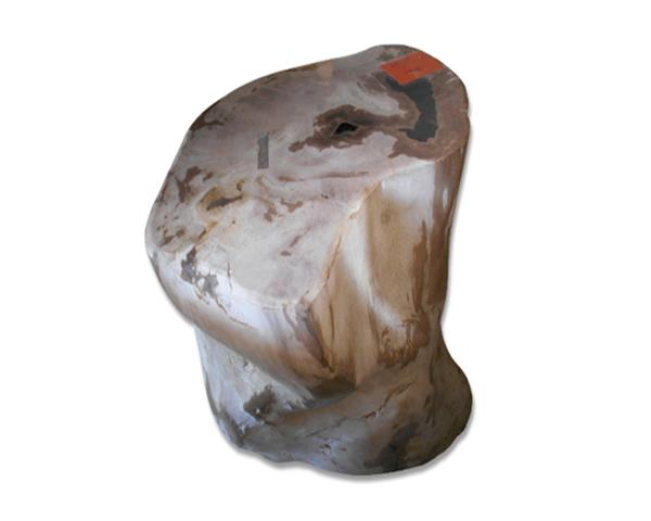 Petrified Wood Round Stool Full Polish#SRFP195