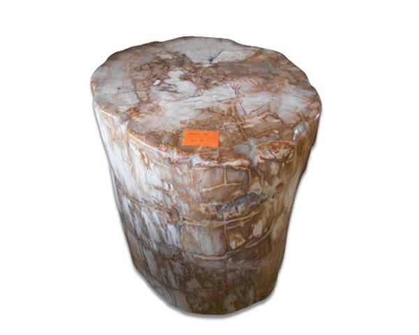 Petrified Wood Round Stool Full Polish#SRFP199