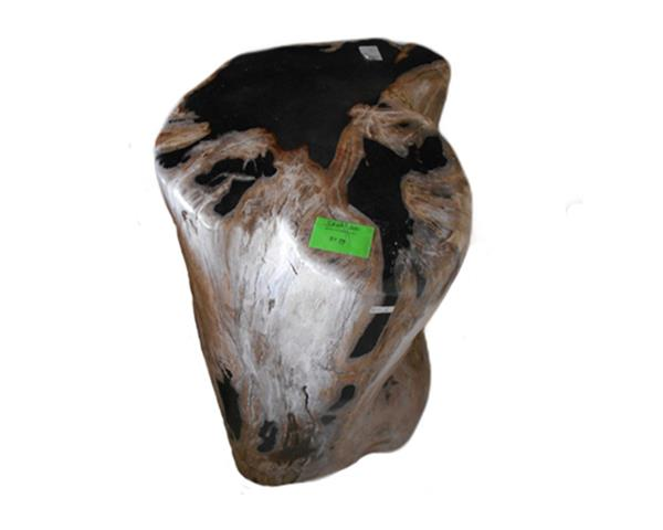 Petrified Wood Round Stool Full Polish#SRFP200