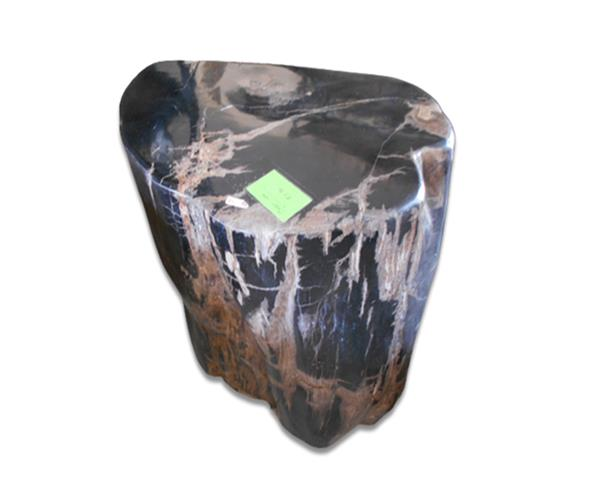Petrified Wood Round Stool Full Polish#SRFP206
