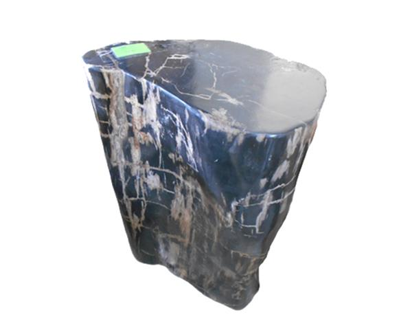 Petrified Wood Round Stool Full Polish#SRFP208