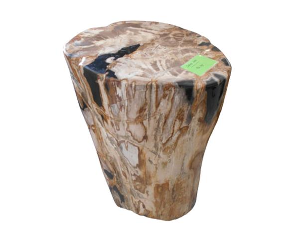 Petrified Wood Round Stool Full Polish#SRFP209