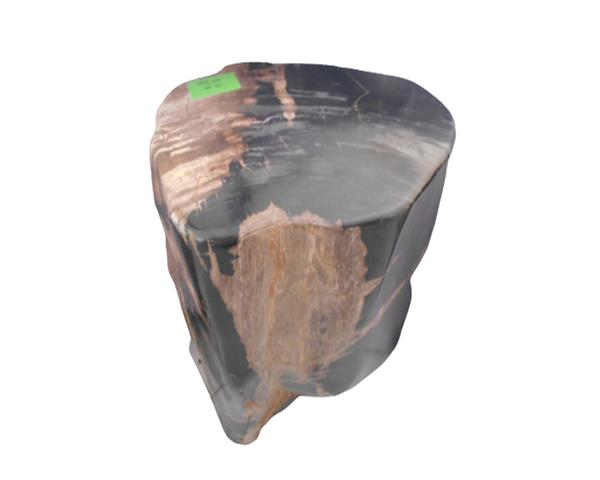 Petrified Wood Round Stool Full Polish#SRFP210
