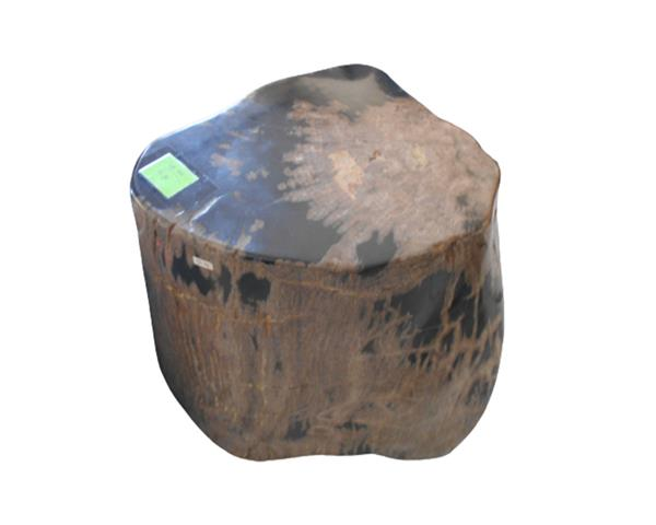 Petrified Wood Round Stool Full Polish#SRFP212