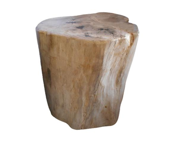 Petrified Wood Round Stool Full Polish#SRFP227