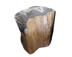 Petrified Wood Round Stool Full Polish#SRFP30