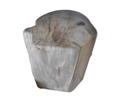 Petrified Wood Round Stool Full Polish#SRFP32