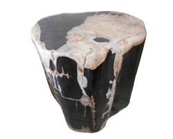 Petrified Wood Round Stool Full Polish#SRFP38