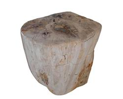Petrified Wood Round Stool Full Polish#SRFP42