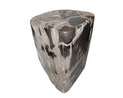 Petrified Wood Round Stool Full Polish#SRFP45