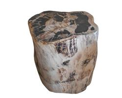 Petrified Wood Round Stool Full Polish#SRFP53