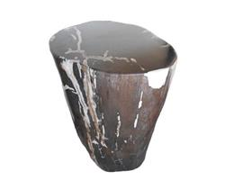Petrified Wood Round Stool Full Polish#SRFP62