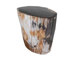 Petrified Wood Round Stool Full Polish#SRFP63