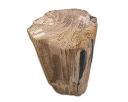 Petrified Wood Round Stool Full Polish#SRFP71