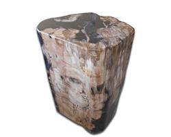 Petrified Wood Round Stool Full Polish#SRFP79