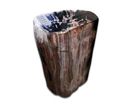 Petrified Wood Round Stool Full Polish#SRFP80