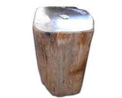 Petrified Wood Round Stool Full Polish#SRFP81