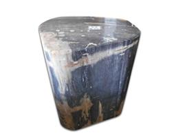 Petrified Wood Round Stool Full Polish#SRFP85