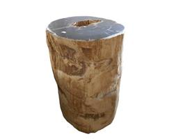 Petrified Wood Round Stool Top Polish#SRTP06