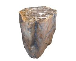 Petrified Wood Round Stool Top Polish#SRTP08