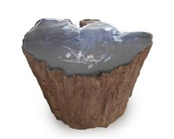 Petrified Wood Stool Round Top Polish#SRTP23