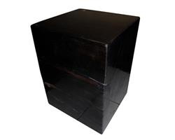 Petrified Wood Square Stool Full Polish#SSFP08